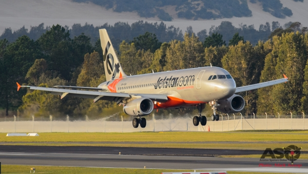 Jetstar coming into land