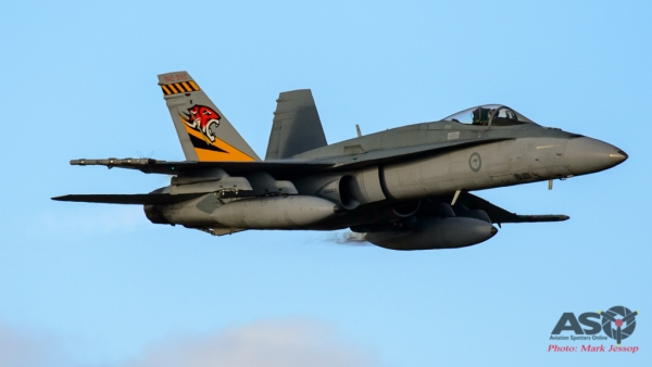 F/A-18A A21-26 2OCU 70th Anniversary tail