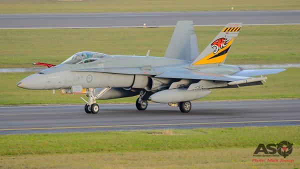 F/A-18A Hornet A21-26 2OCU 70th Anniversary tail