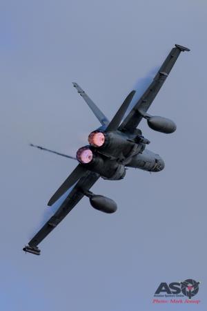 F/A-18A Hornet A21-5 77SQN High Speed turn with After Burners