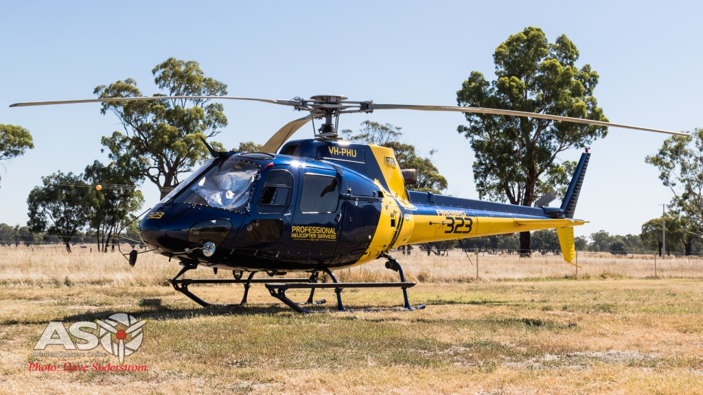 VH-PHU Professional Helicopters AS350 ASO  (1 of 1)