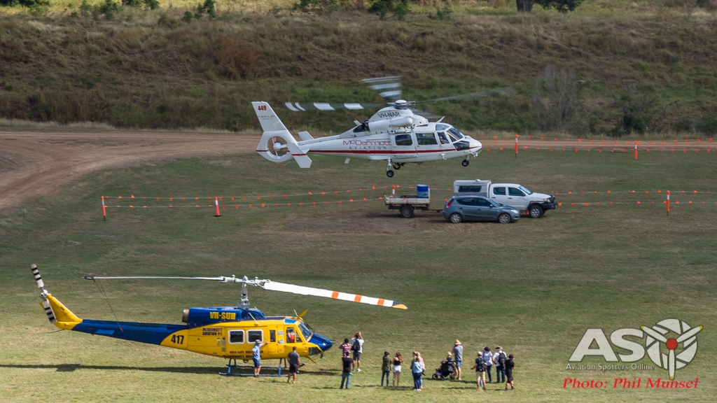 AS365N2 Dauphin, Bell 214B, Raglan.2017 (18)