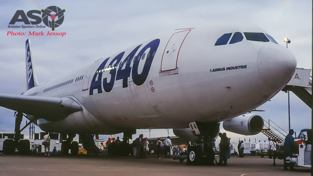 Airbus A340 out in Australia for the 1st back in 1992.