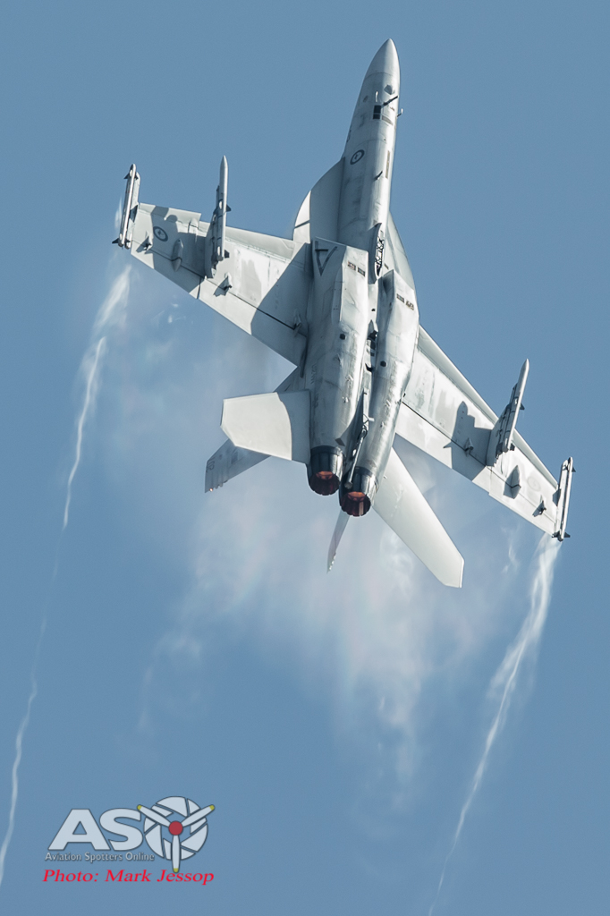 RAAF F/A-18F Super Hornet going up.