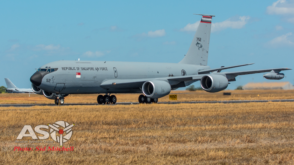 RSAF KC135R departing Darwin