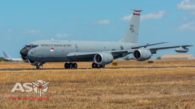 RSAF KC135R departing Darwin