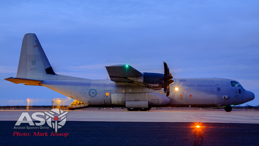 RAAF C-130J-30 A97-447 getting the last loads out.