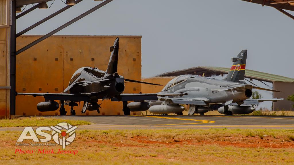 RAAF Hawk A27-22 & A27-24 79SQN taxi out