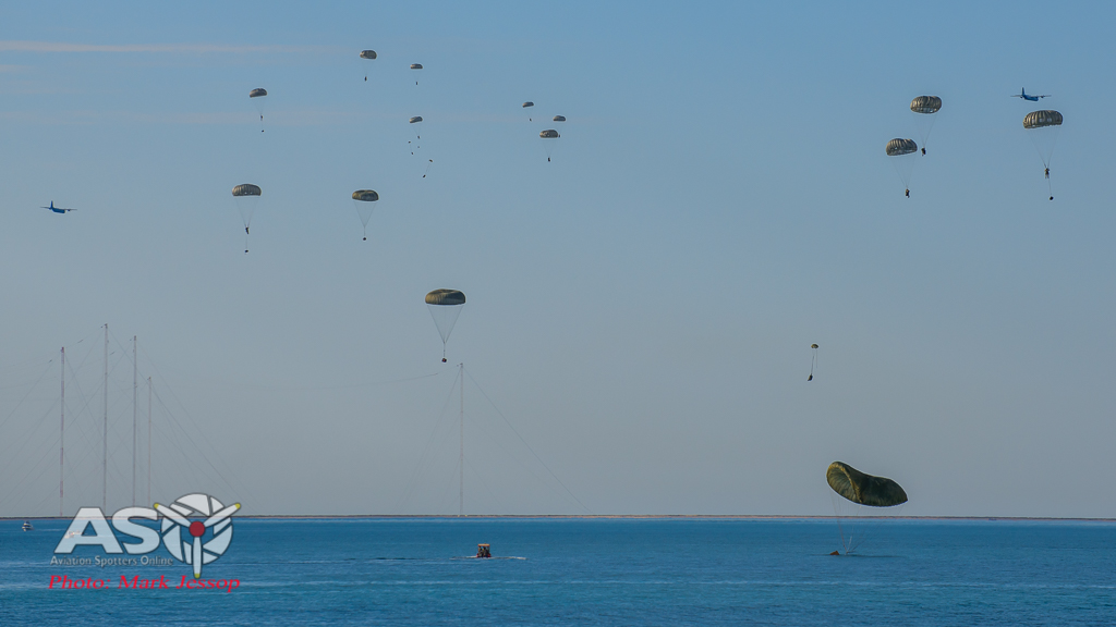 The Mass Para Load Follow (PLF) into the Gulf of Exmouth.