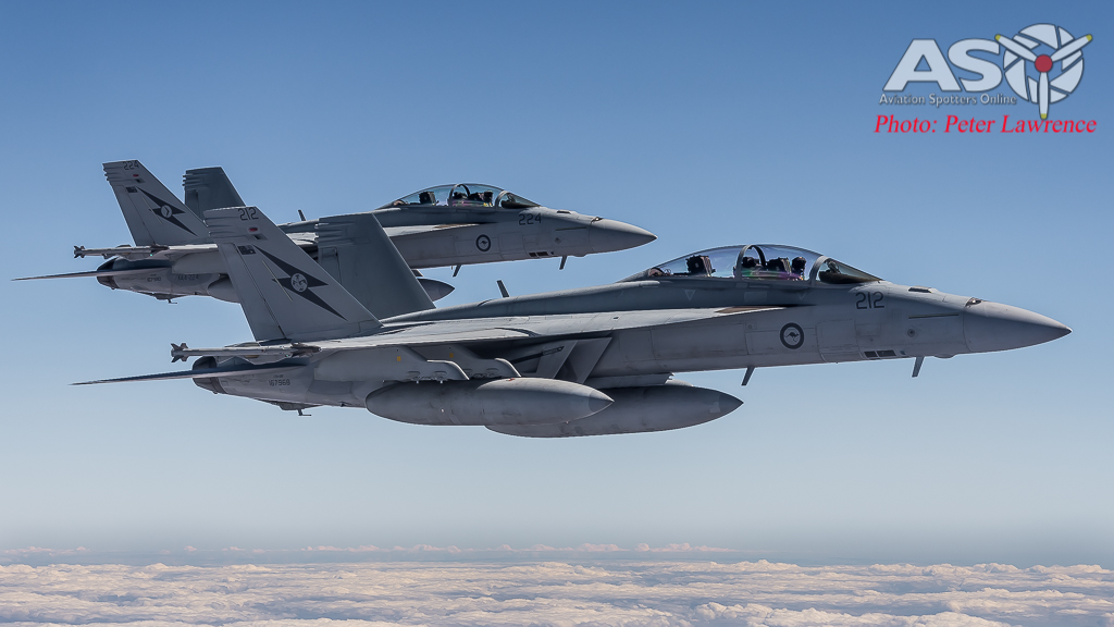 RAAF F/A-18F Super Hornets from 1SQN & 6SQN. A44-212 & A44-224.