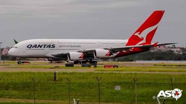VH-OQH Airbus A380 QANTAS