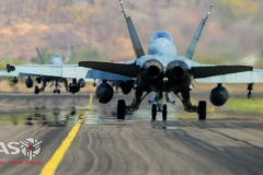 F/A-18 Hornets head out for another mission.