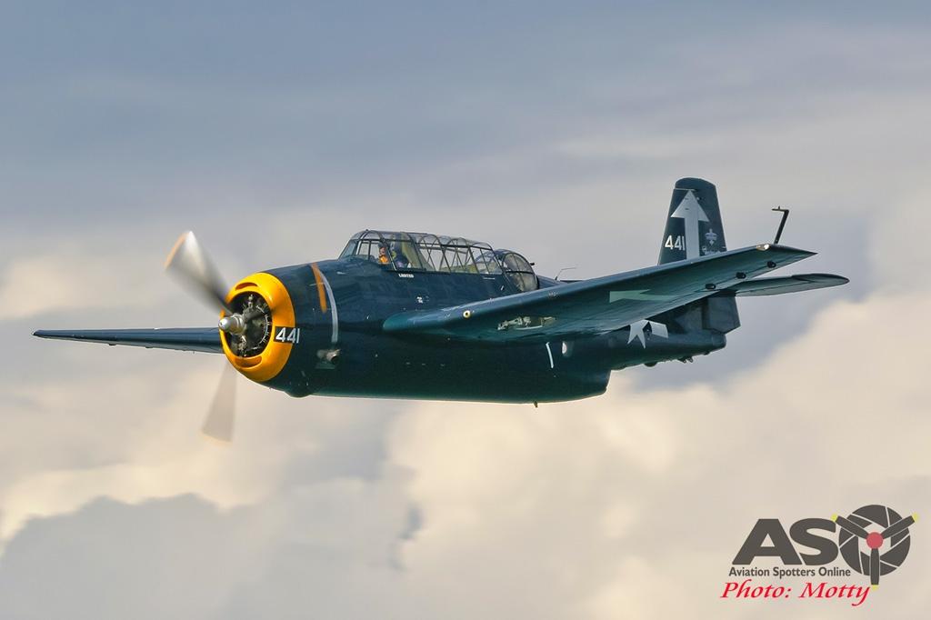 Mottys-Rathmines-Catalina-Festival-2019-Paul-Bennet-Airshows-Grumman-Avenger-VH-MML-05700-ASO
