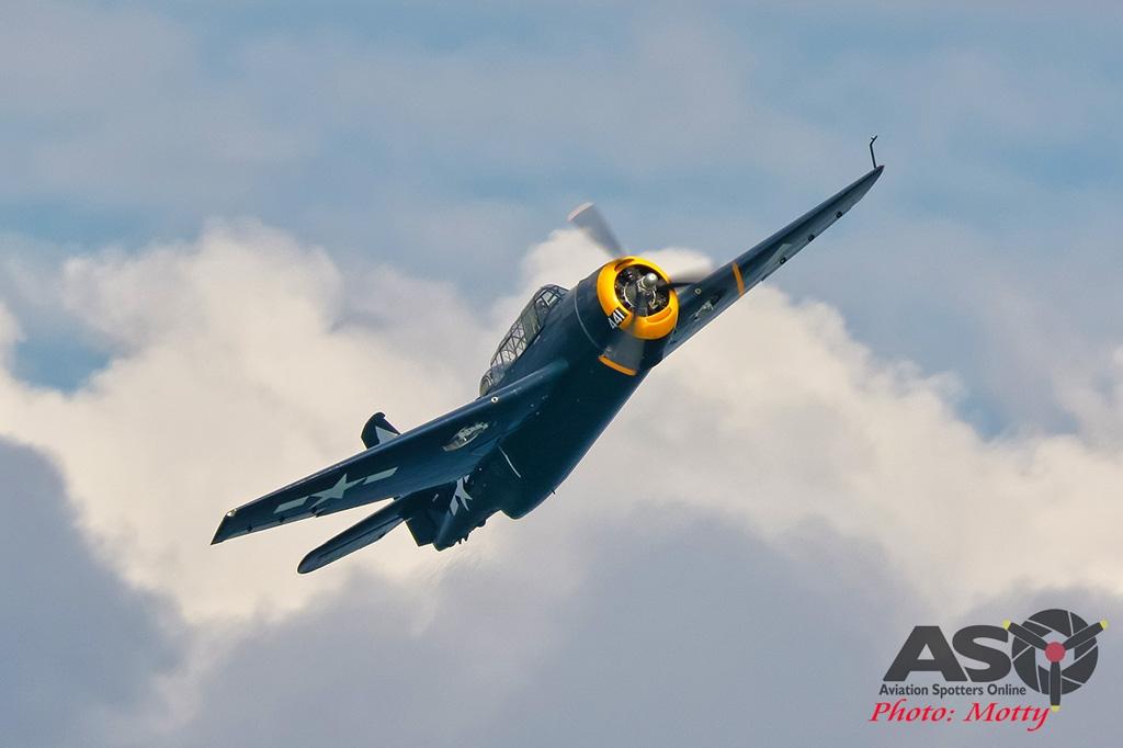 Mottys-Rathmines-Catalina-Festival-2019-Paul-Bennet-Airshows-Grumman-Avenger-VH-MML-06013-ASO
