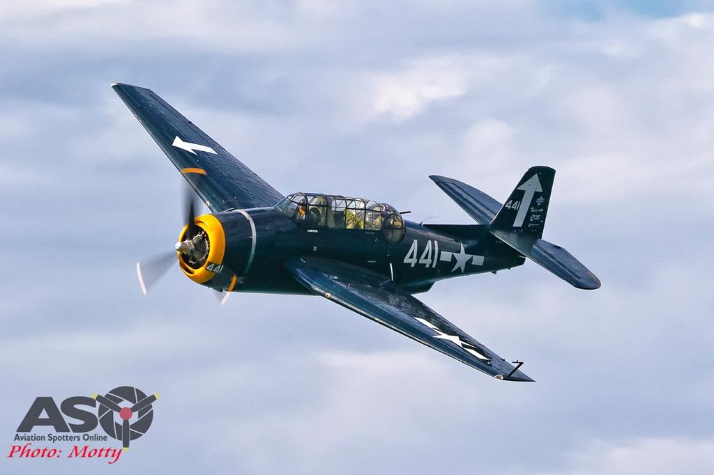 Mottys-Rathmines-Catalina-Festival-2019-Paul-Bennet-Airshows-Grumman-Avenger-VH-MML-06292-ASO