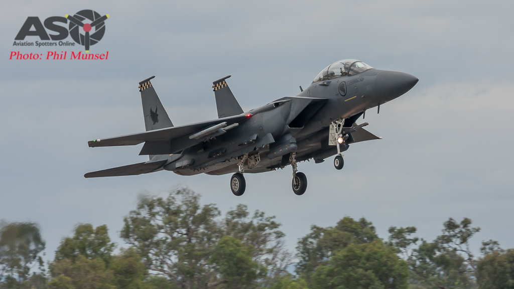 RSAF F-15SG Returning from another mission in the Shoalwater Bay Training Area (SWBTA)