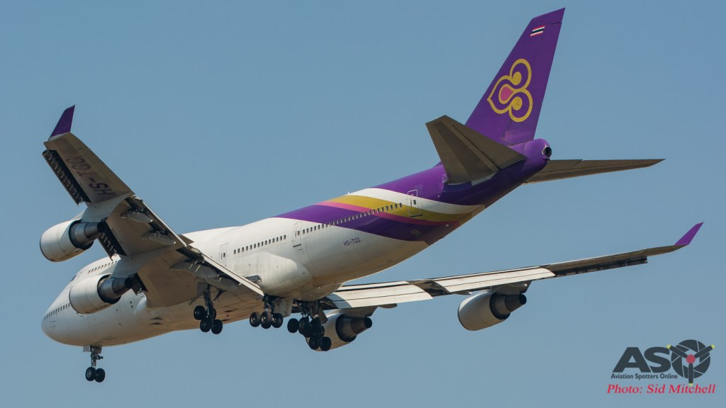 Thai Airways B747 diversion