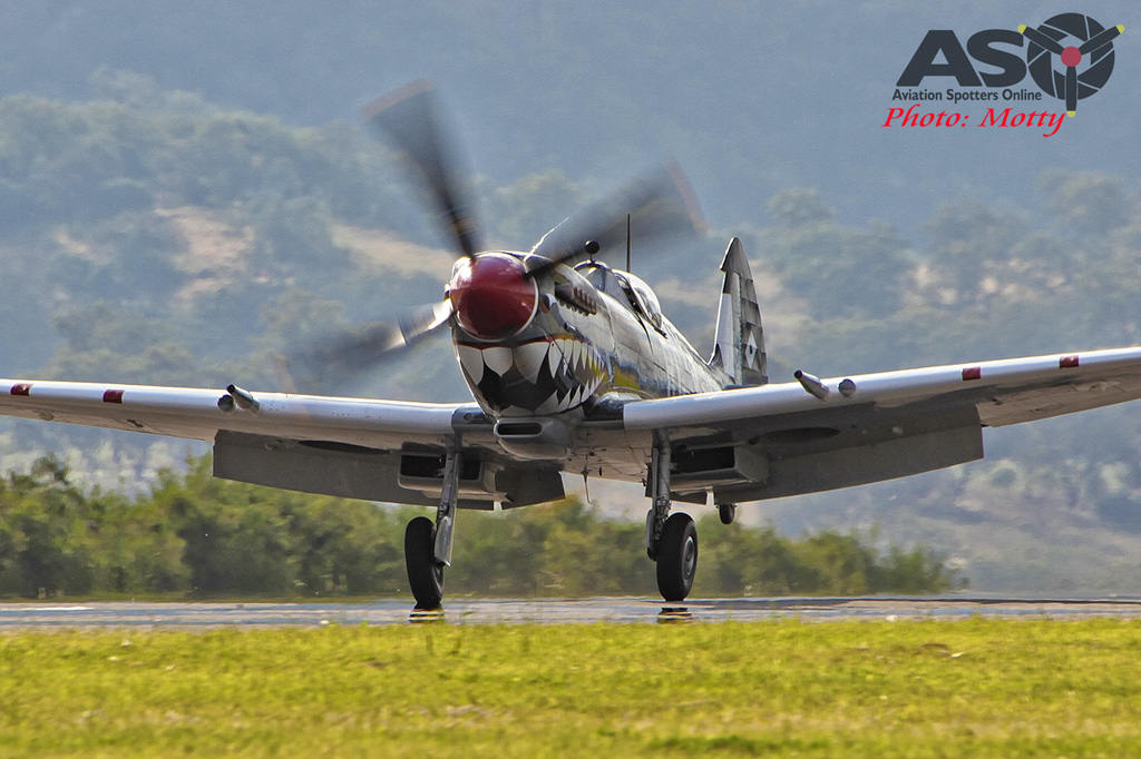 Mottys Flight of the Hurricane Scone 1 1890 Spitfire MkVIII VH-HET-001-ASO