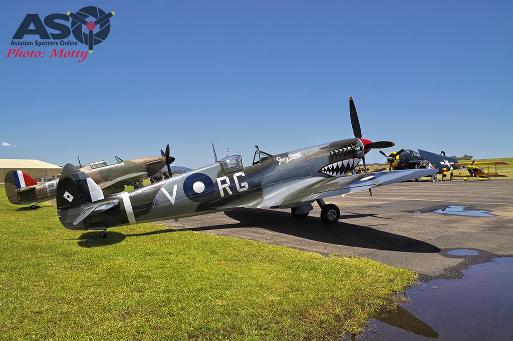 Mottys Flight of the Hurricane Scone 2 0285 Spitfire MkVIII VH-HET-001-ASO