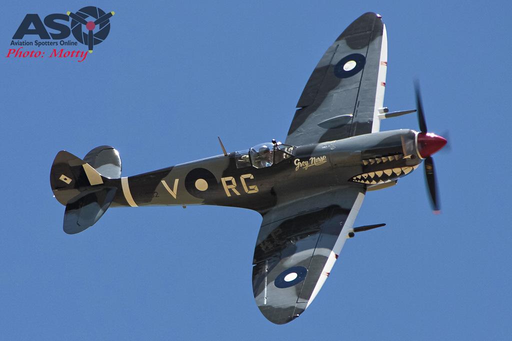Mottys Flight of the Hurricane Scone 2 4427 Spitfire MkVIII VH-HET-001-ASO