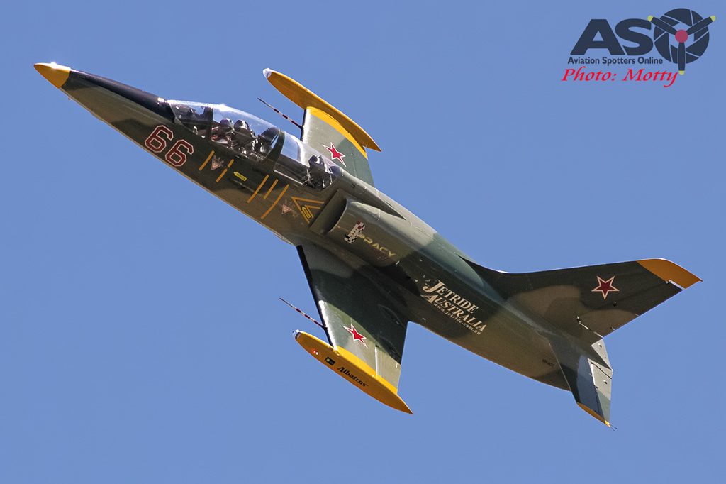 Mottys Flight of the Hurricane Scone 2 8380 L-39 Albatros VH-IOT-001-ASO