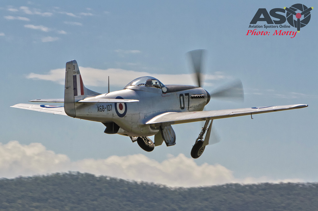 Mottys Flight of the Hurricane Scone 2 8711 CAC Mustang VH-AUB-001-ASO