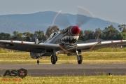 Mottys Flight of the Hurricane Scone 1 1989 Spitfire MkVIII VH-HET-001-ASO
