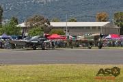 Mottys Flight of the Hurricane Scone 2 3944 Spitfire MkVIII VH-HET & Hurricane VH-JFW-001-ASO