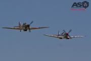 Mottys Flight of the Hurricane Scone 2 5088 Spitfire MkVIII VH-HET & Hurricane VH-JFW-001-ASO