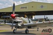 Mottys Flight of the Hurricane Scone 1 0263 Spitfire MkVIII VH-HET & Hurricane VH-JFW-001-ASO