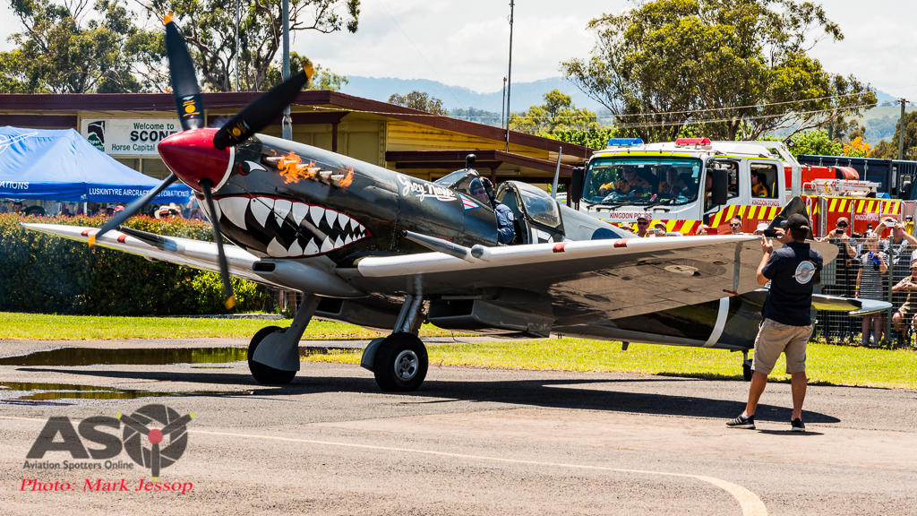 TAM MK.VIII Spitfire starting up.