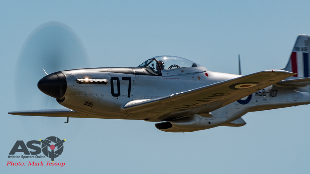 CAC Mustang in full flight.