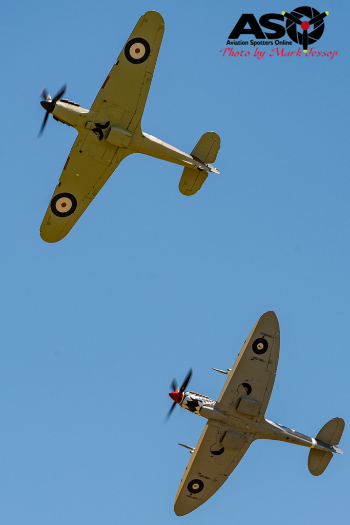 Hurricane and MK.VIII Spitfire showing the different wing profiles.