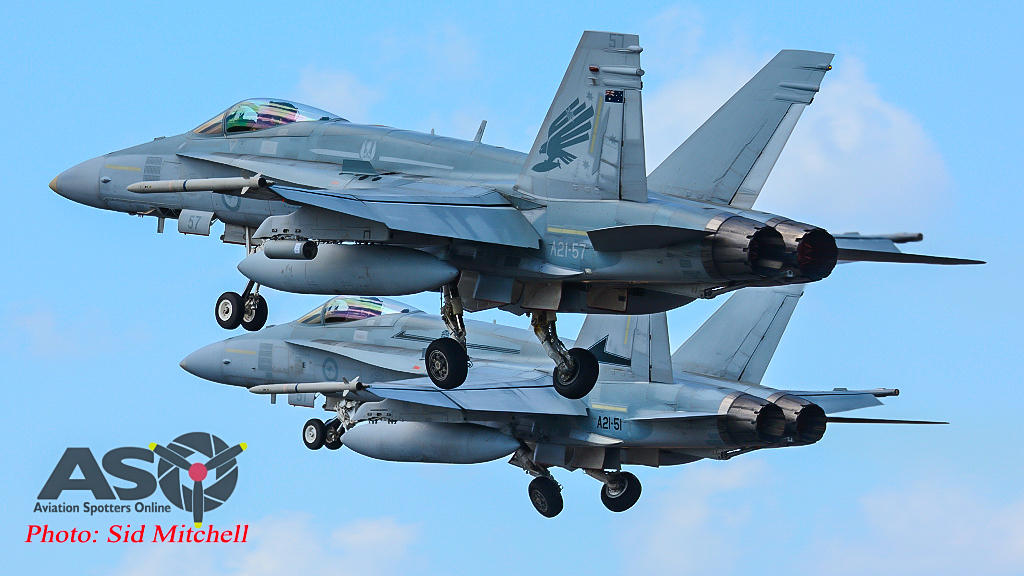 Paired 77SQN F-18\'s