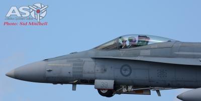 F-18 Hornet A21-39 departing