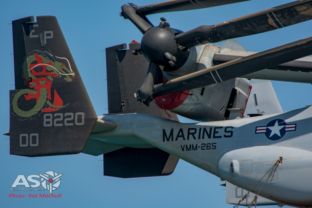 USMC MV-22B Osprey from VMM-265 Dragons
