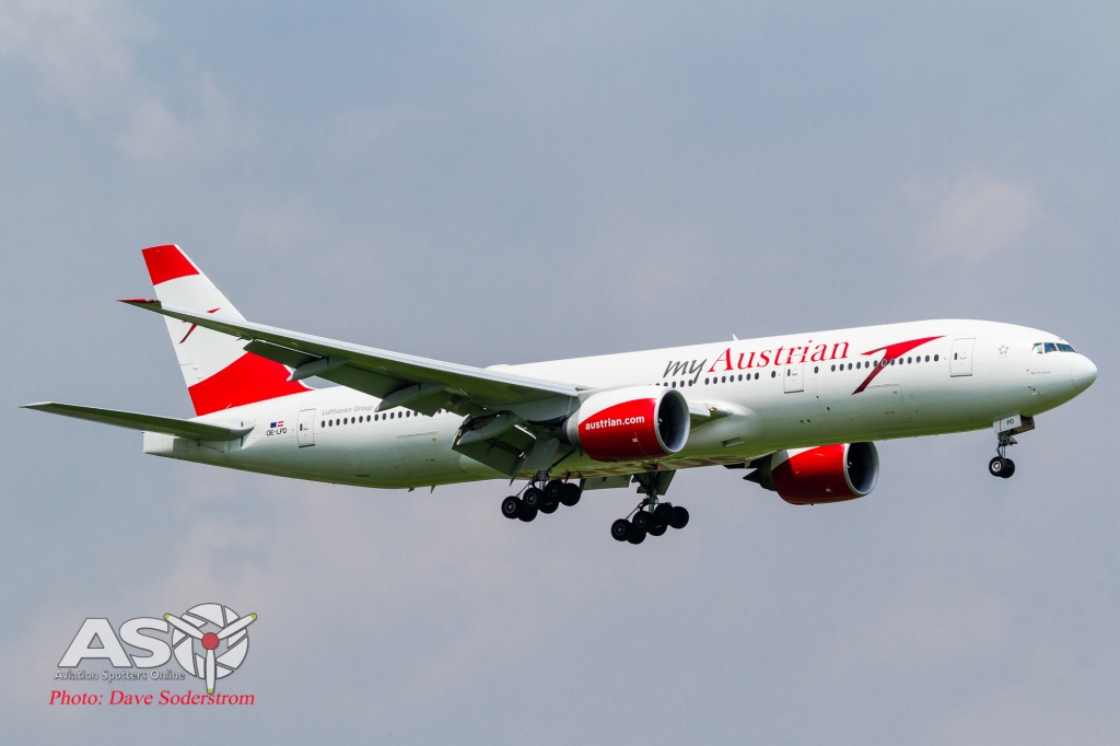 OE-LPD Austrian Airlines Boeing 777-200 ASO (1 of 1)
