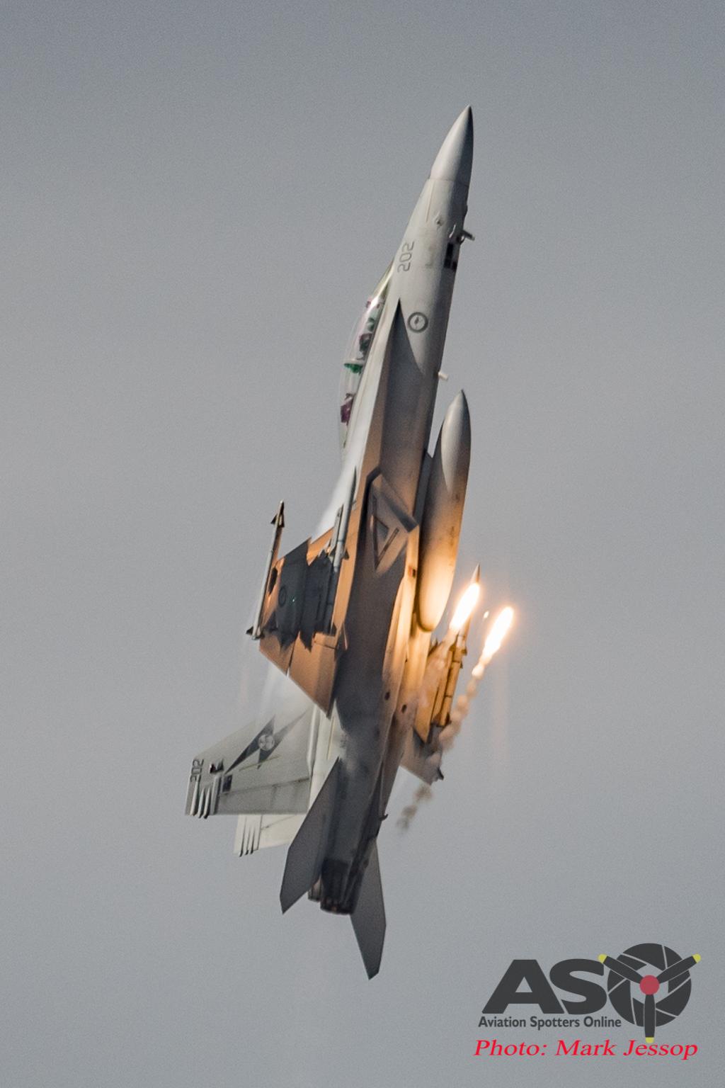 RAAF F/A-18F Super Flare Burst