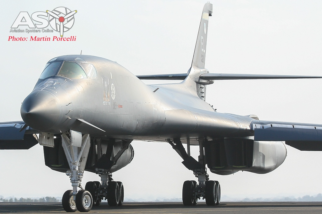 Rockwell International B-1B Lancer from the 28th BW based at Ellsworth AFB, South Dakota.