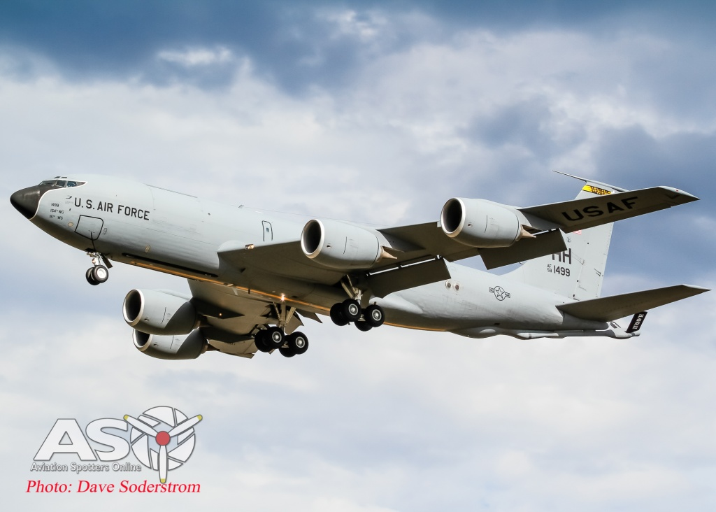 Boeing KC-135R Stratotanker from the 203rd Air Refuelling Squadron 154th WG, based at Hickam AFB, Hawaii.