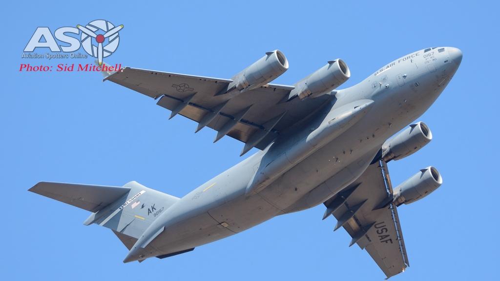 C-17A from 3 WG Elmendorf AFB into Darwin
