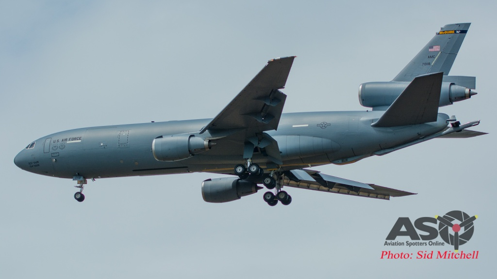KC-10A Extender into Darwin Sep2016