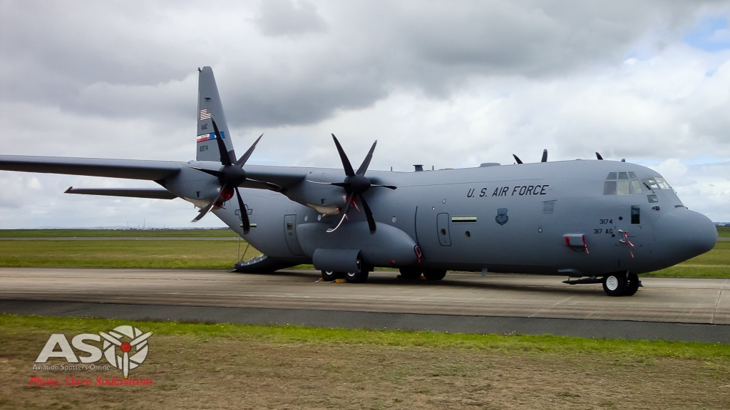 Lockheed C-130J Super Hercules from the 317th Airlift Group, which is an Air Mobility Command tenant unit based at Dyess AFB in Texas.
