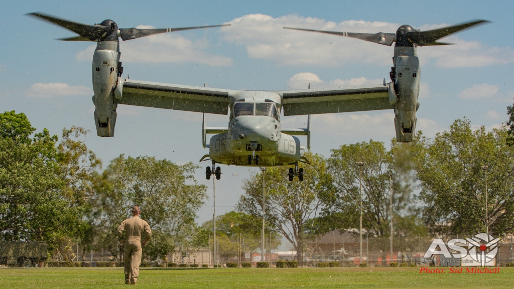 MV22B Osprey from VMM-268 landing