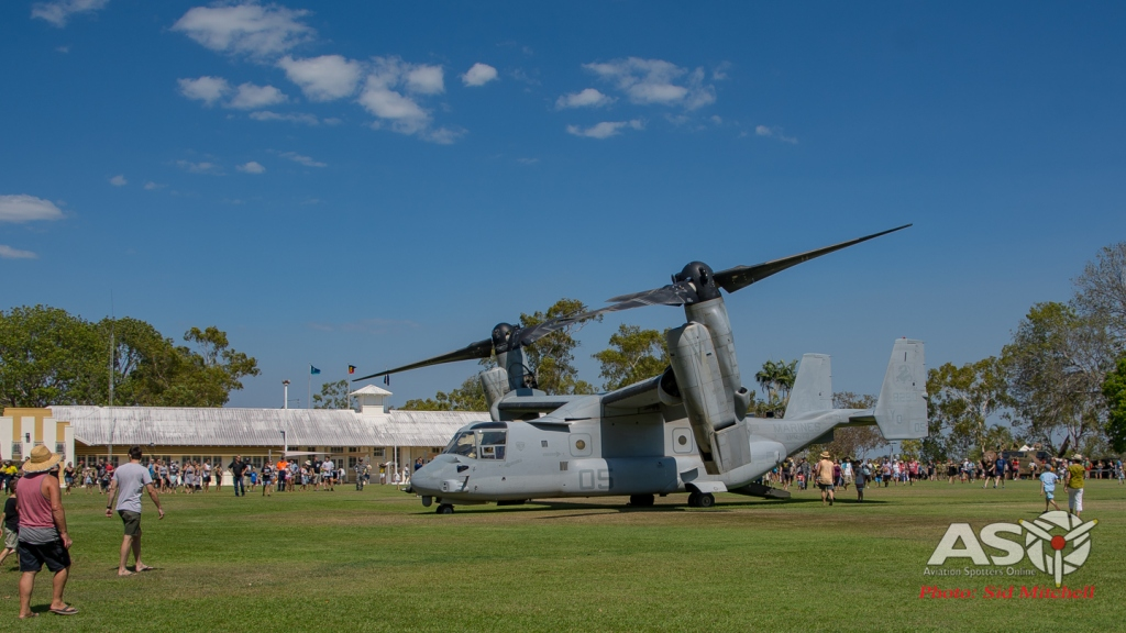 MV22B Osprey from VMM-268 on display