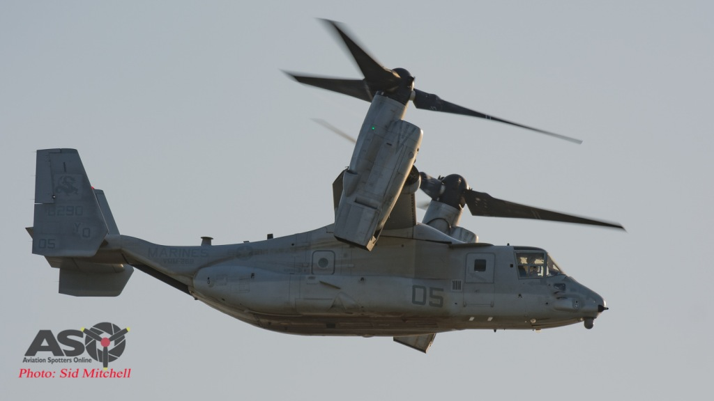 MV22B Osprey from VMM-268 departing Larrakeyah