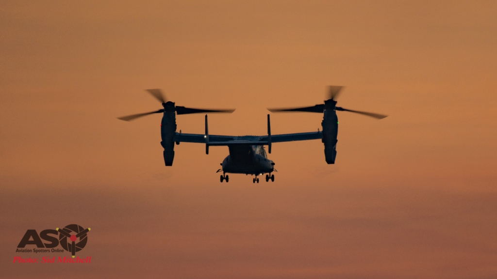 MV22B Osprey from VMM-268 landing RAAF Base Darwin