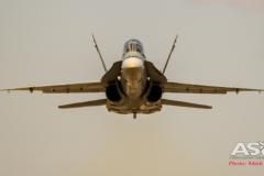 F/A-18B Hornet A21-118 2OCU blasting down the runway.