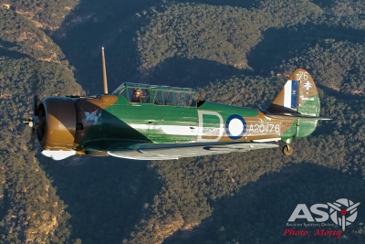 Mottys Paul Bennet Airshows Wirraway VH-WWY A2A 0140-ASO