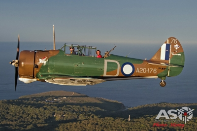 Mottys Paul Bennet Airshows Wirraway VH-WWY A2A 0320-ASO